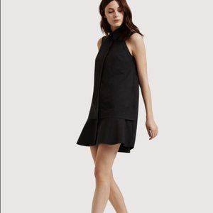 KIT & ACE All Buttoned Up Black Shirt Dress
